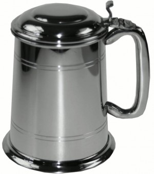 Personalised Pewter Tankard With Lid