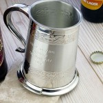 Personalised Wedding Tankard Ideal For Best Man And Wedding Ushers